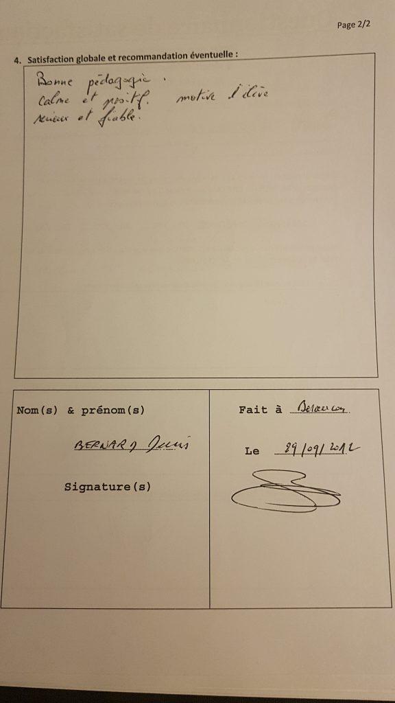 Témoignage du pére d'Antoine Pour les Cours Particuliers de Maths de M.Chalabi sur Besançon